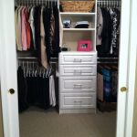 Small Walk In CLoset Storage For Small Bedroom