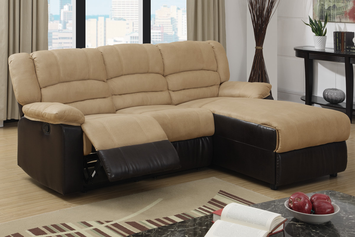 Microfiber Reclining Sectional, Create So Much Coziness ...