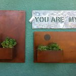 Small wall mounted steel planters by Corten