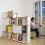 Smaller book storage idea as space partition with different height
