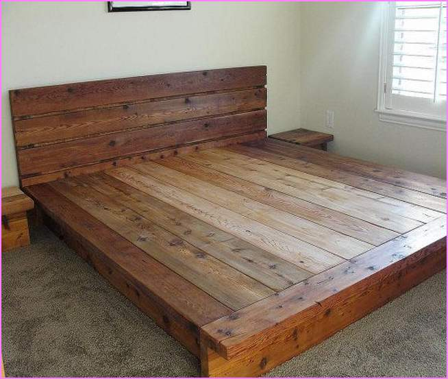 king platform bed frames selections homesfeed. Black Bedroom Furniture Sets. Home Design Ideas