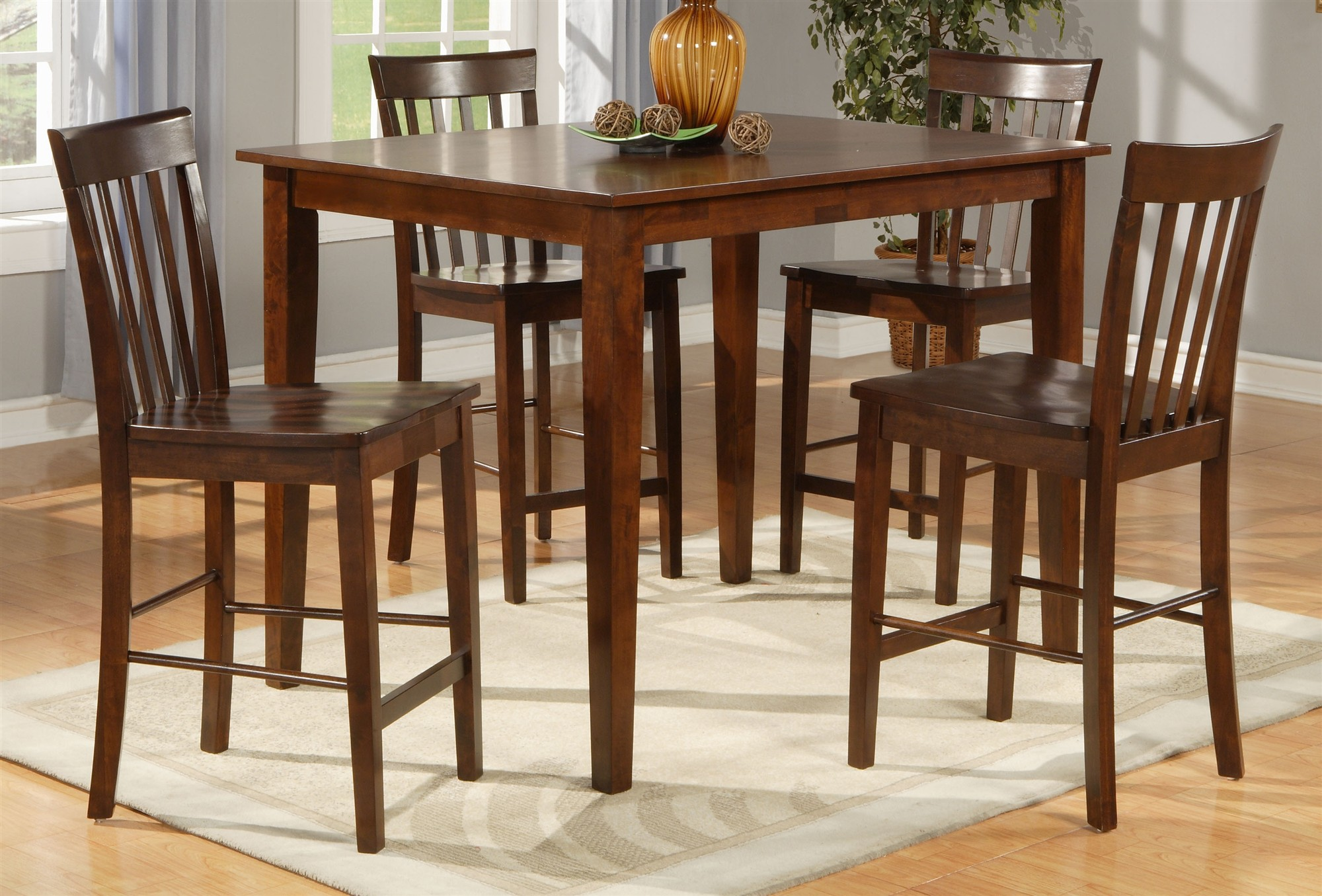Square dining table for 4 homesfeed for Dining room table and 4 chairs
