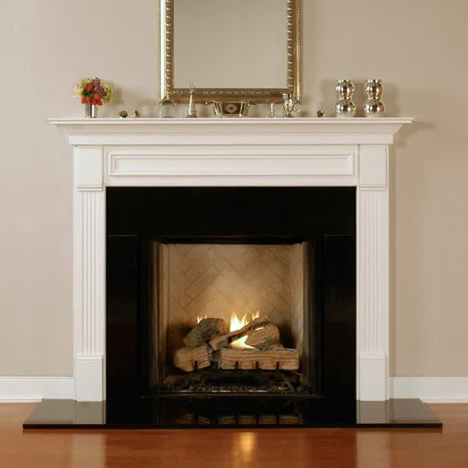 another expert says that the ideal fireplace mantel height will depend