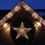Stars Shaped Of Christmas On Lighting Design Ideas For House Exterior