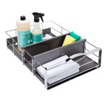 Steel storage box for storing bathroom cleaner and cleaner foam