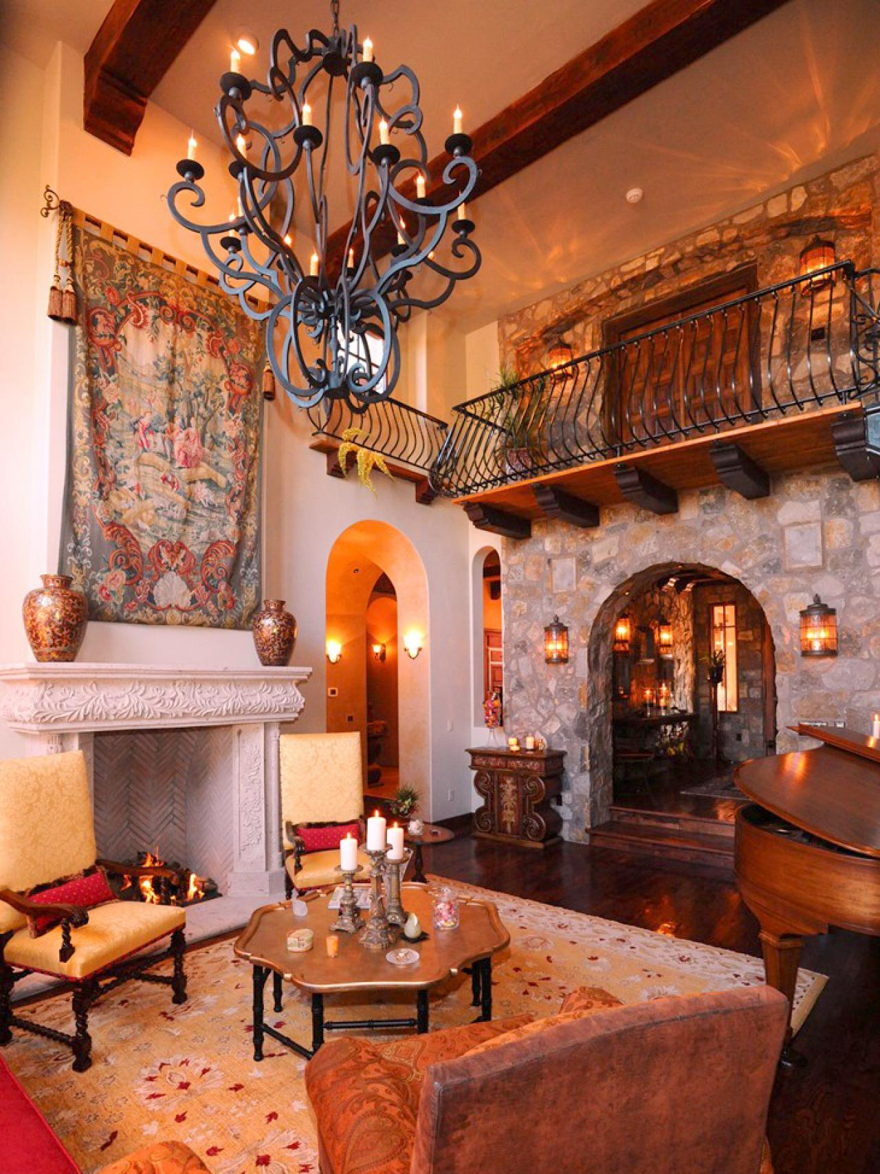 Living room spanish style design homesfeed for Spanish hacienda style