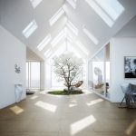 Stunning Skylight Design In White Room