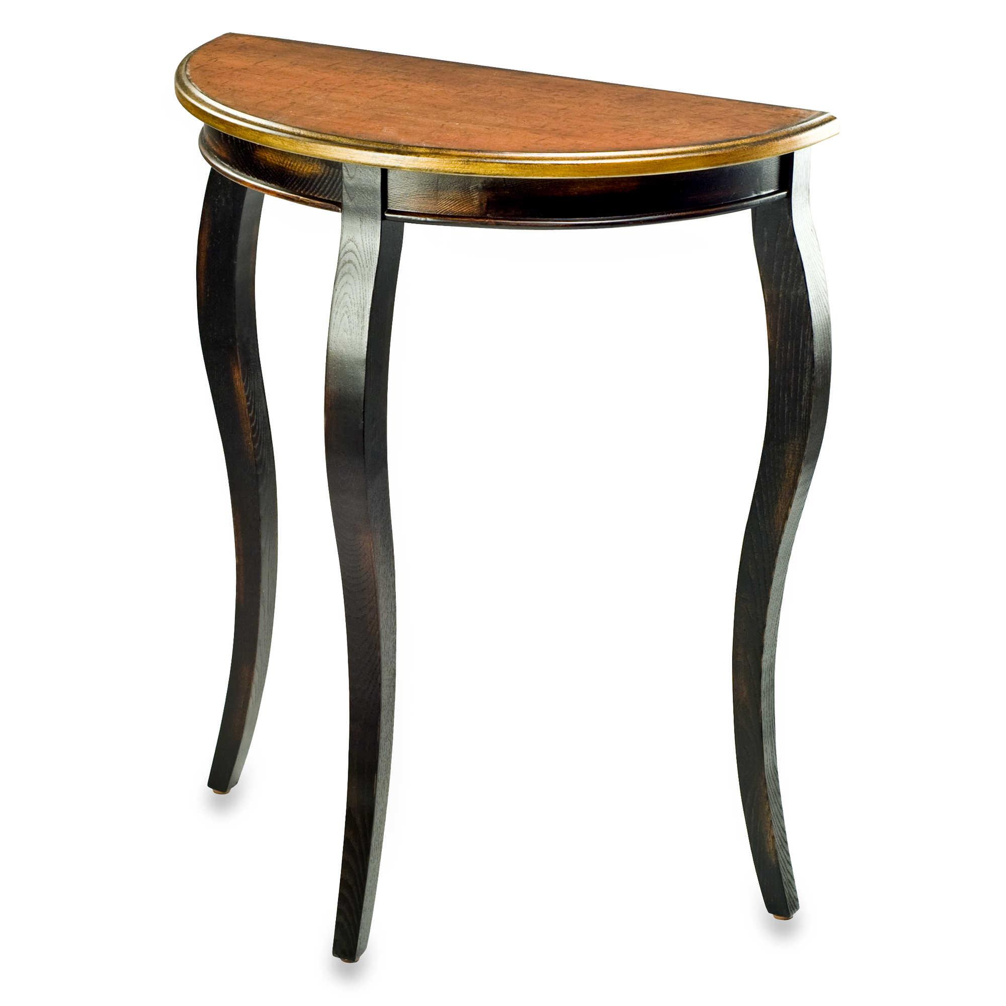 Stylish Halfmoon Table With Wooden Style