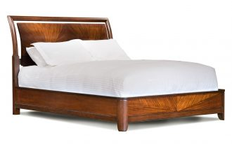 Stylish King Platform Bed With White Pillow And Mattres