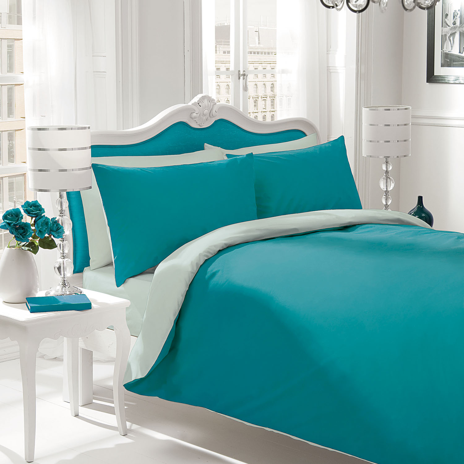 Teal bed sets homesfeed for Teal bedroom