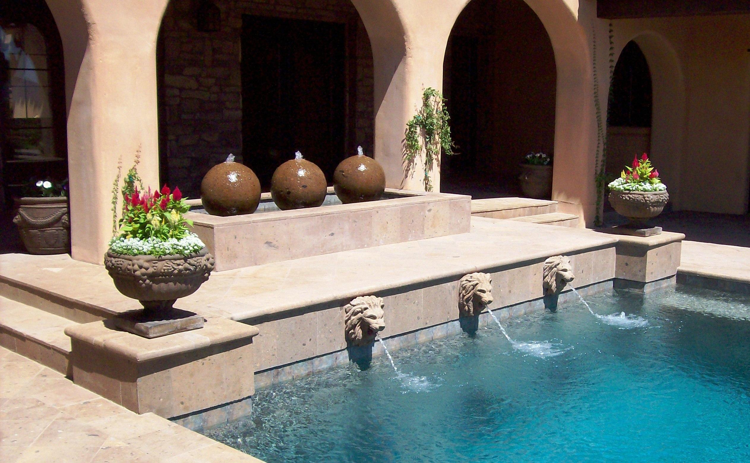 Swimming Pool Water Fountain Design Homesfeed
