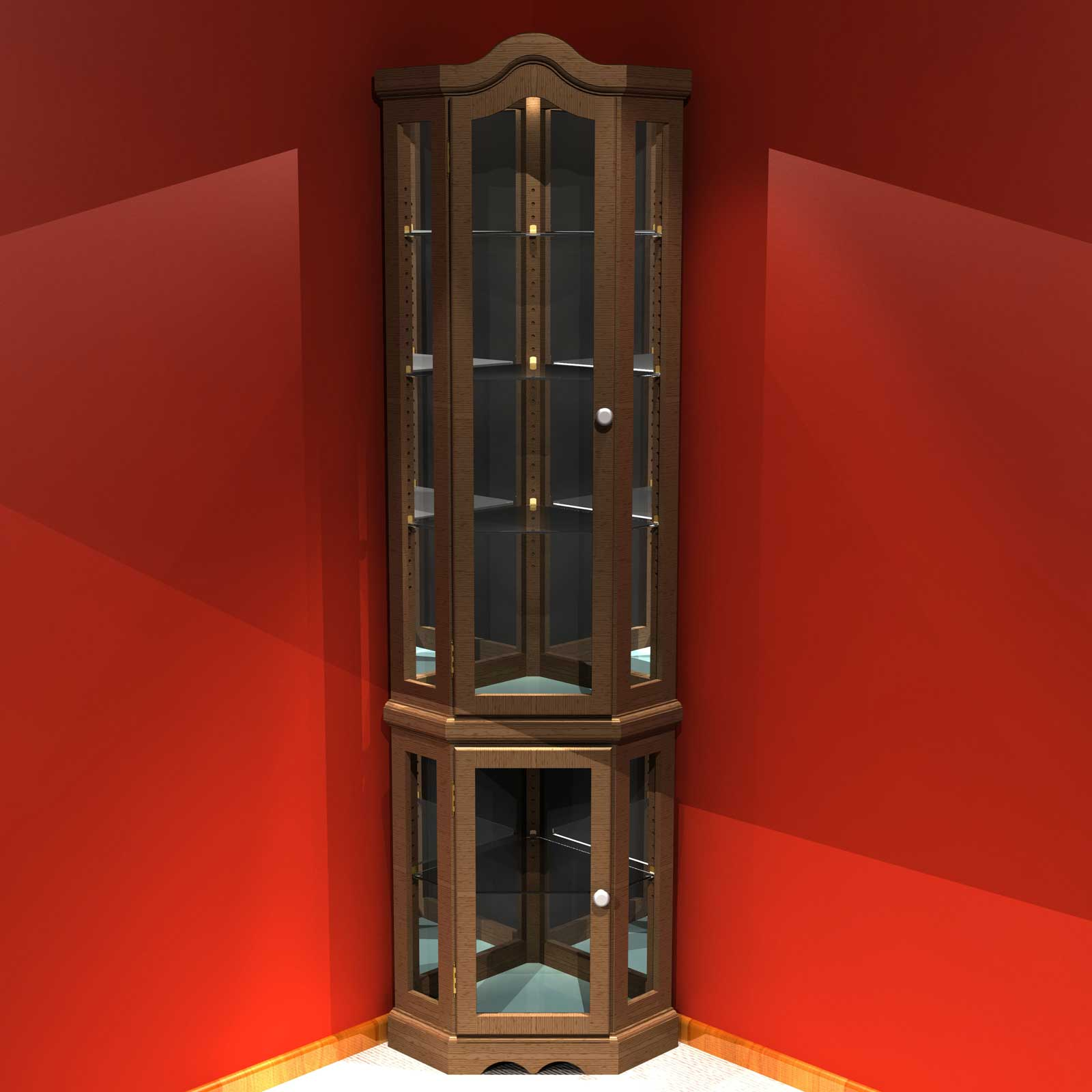 Corner Cabinet With Glass Doors - HomesFeed