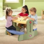 The-Little-Tikes-Adjust-n-Draw-Kids'-Activity-Table-and-Chair-Set-built-in-bench-for-four-kids-age-twoto-four-years