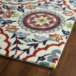Thick And  Fluffy Global View Rug With Floral Pattern