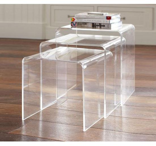 Peekaboo Clear Coffee Table: Clear Nesting Tables As Side Or End Tables