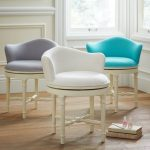 Three series of modern vanity chairs with back