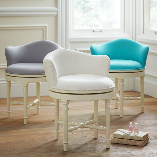 Vanity Chair with Back: Design Options | HomesFeed