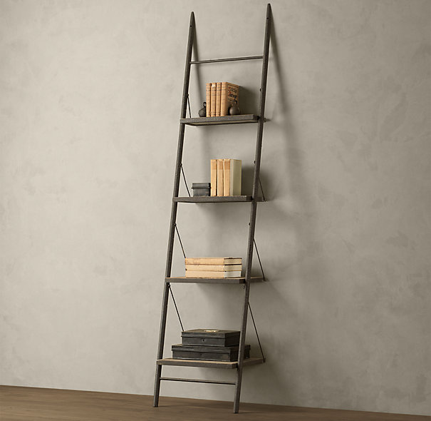 Tiny Leaning Ladder Bookscase Idea