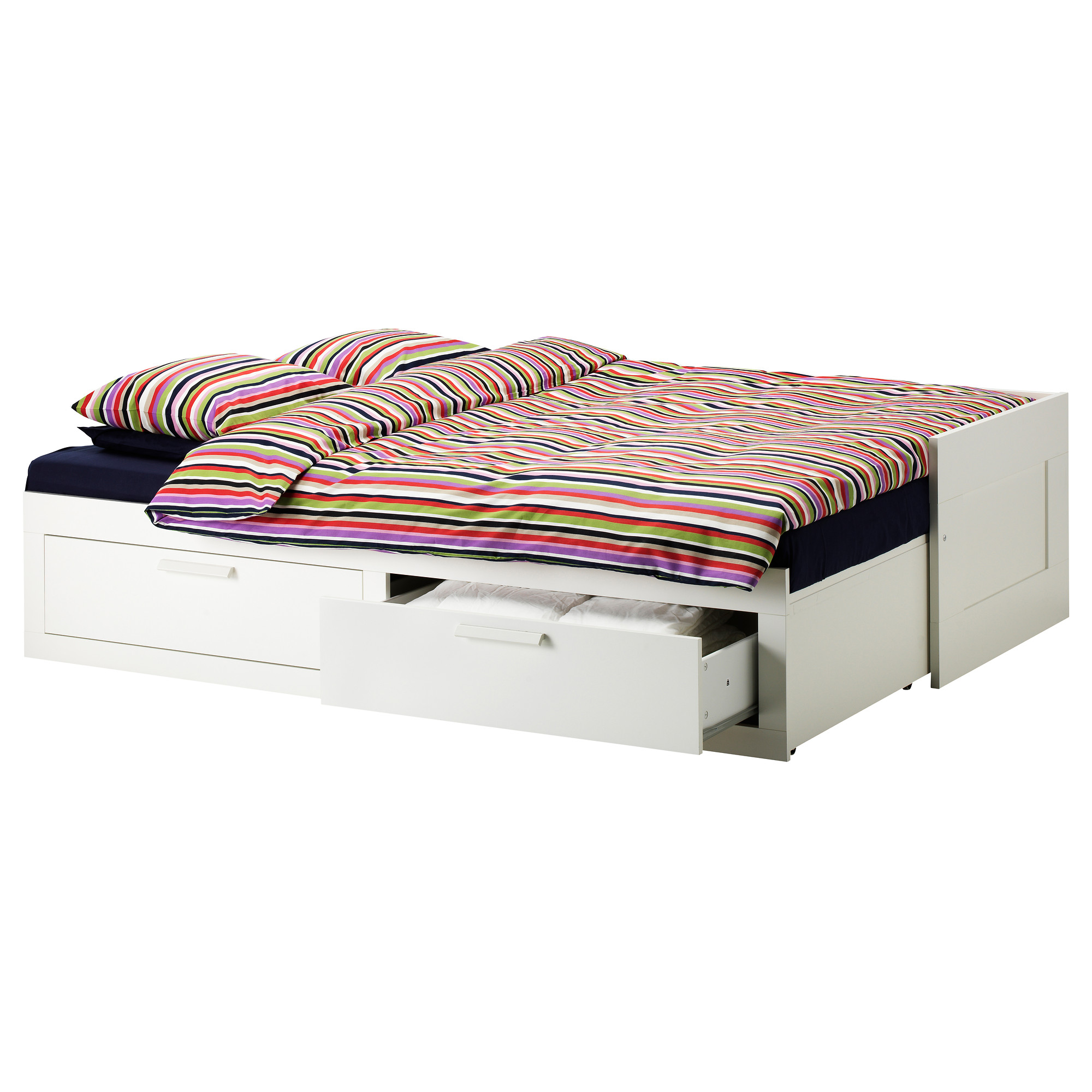twin bed frames with storage place drawers stylish bedcover and pillows