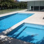 Two Pools With Rectangular Shape And Warm Pool Tile
