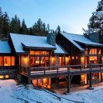 Unique Mountain Architecture Of Home In Winter