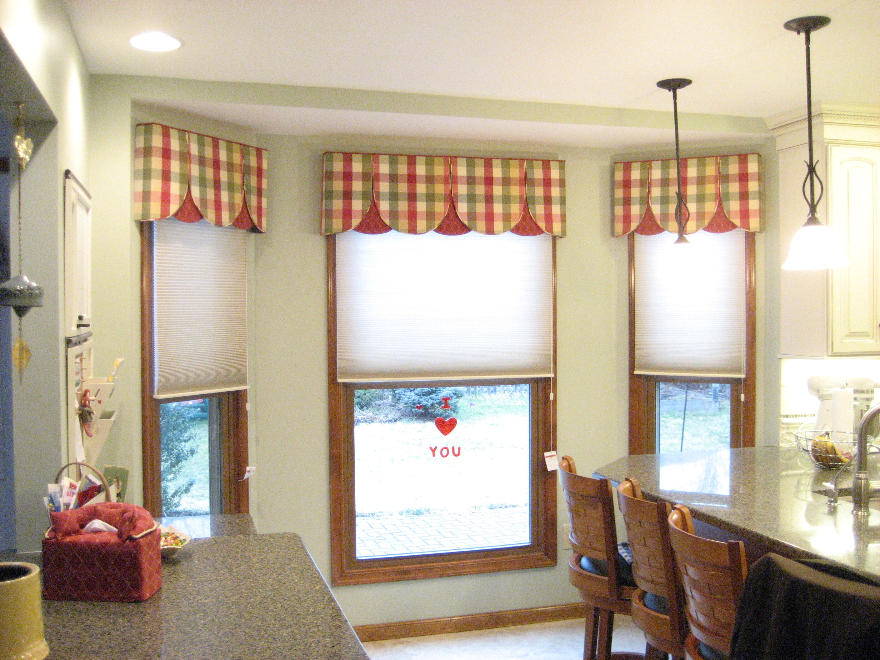 Unique Triple Curtain For Kitchen Window Treatments
