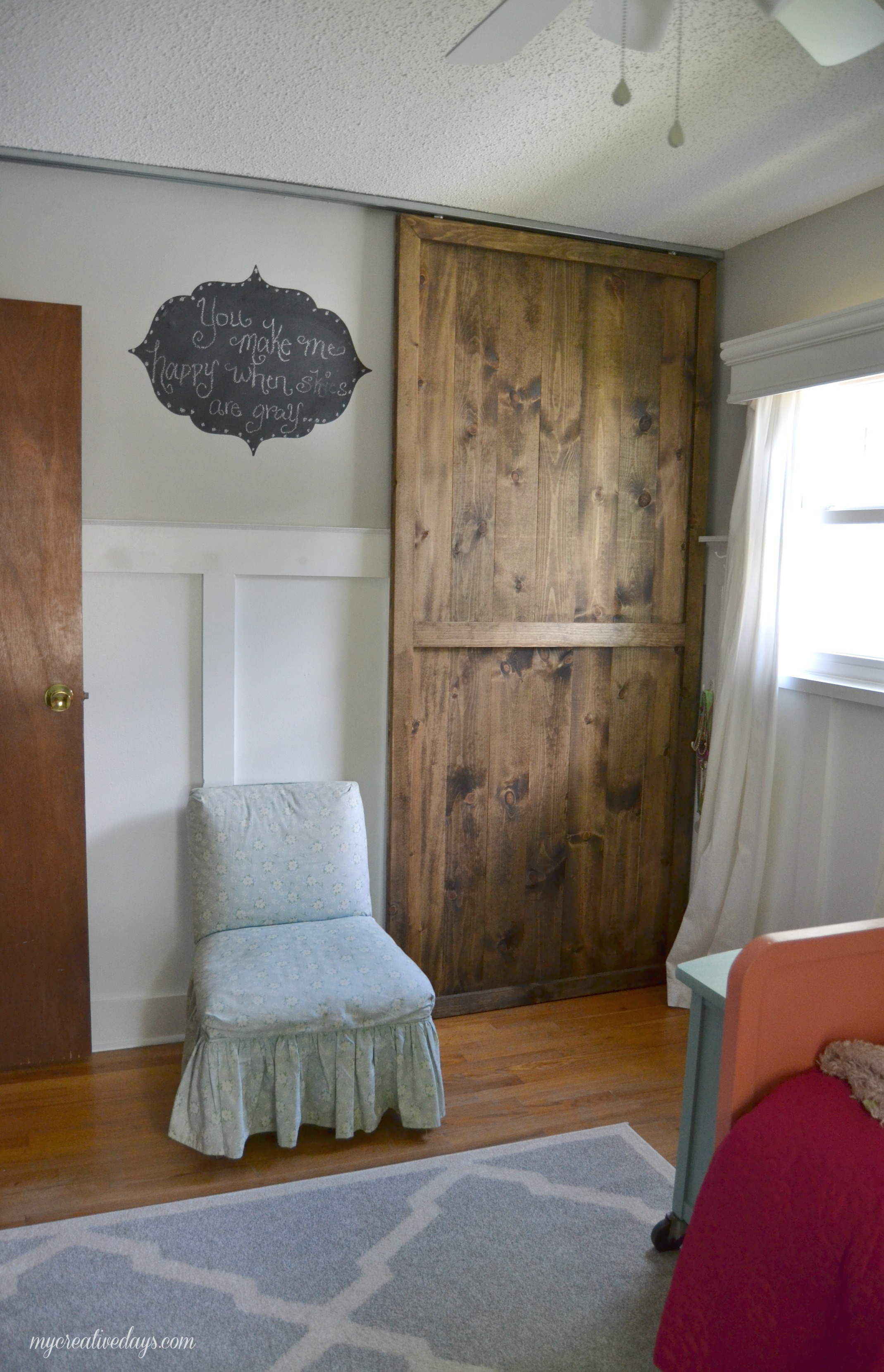 bedroom closet doors. Unique Wooden Sliding Door Closet In Bedroom Near White Chair Diy Doors  HomesFeed