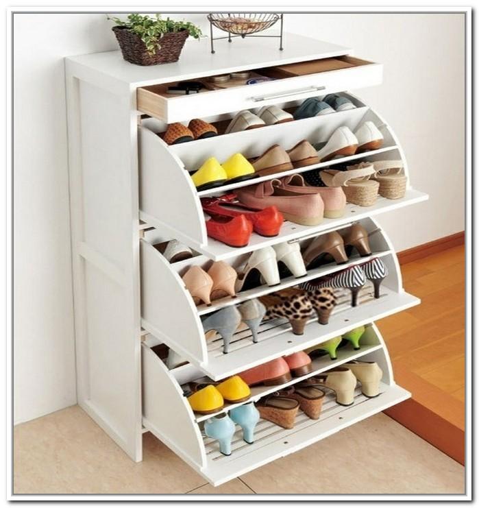 Cool and fancy shoe racks homesfeed for Wooden shoe rack ikea
