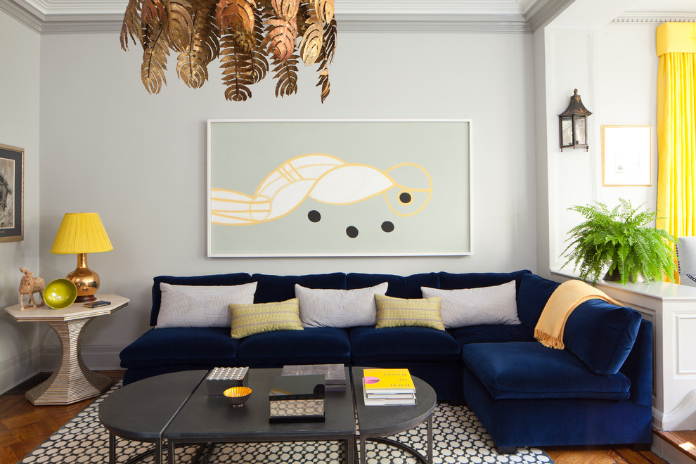 Modern Blue Couch Navy Sofa For In Decor. Plain Decoration Blue Couch Living  Room ...