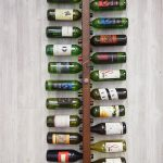 Vertical rack for organizing a lot of wine bottles