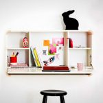 Wall mount folding down desk with shelves idea a black round seating