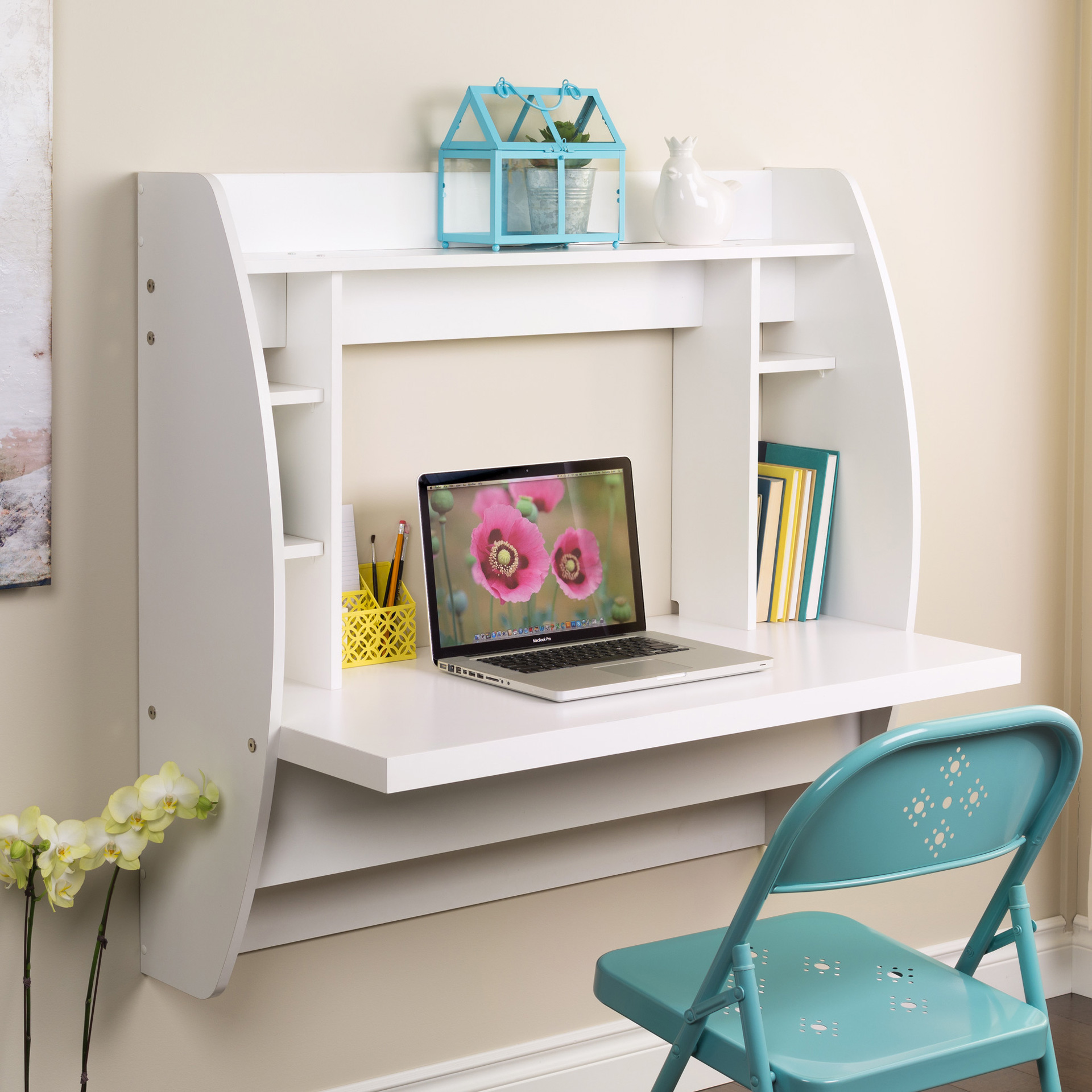Wall Mounted Folding Desk Ideas For Small Space Living