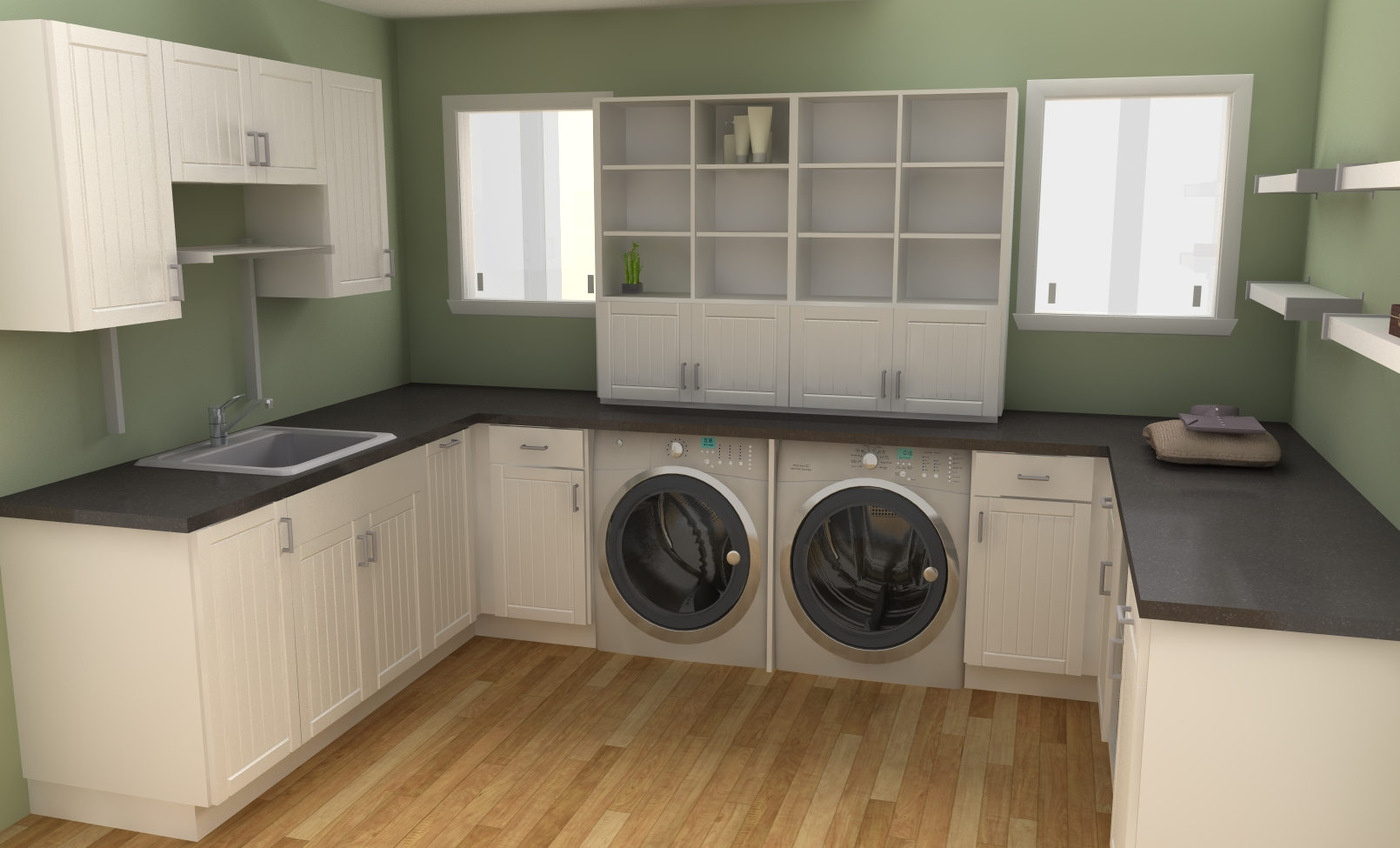 Shelving for laundry room ideas homesfeed for Laundry room design ideas