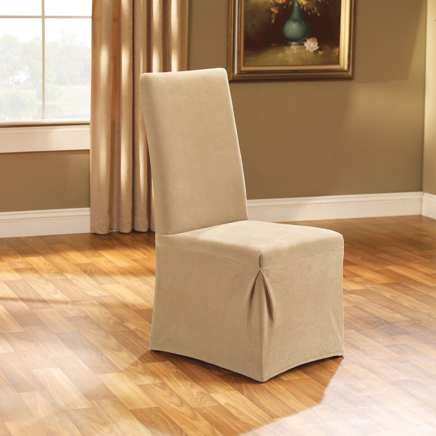 White slipcovered chair ideas homesfeed for Slipcovered chairs
