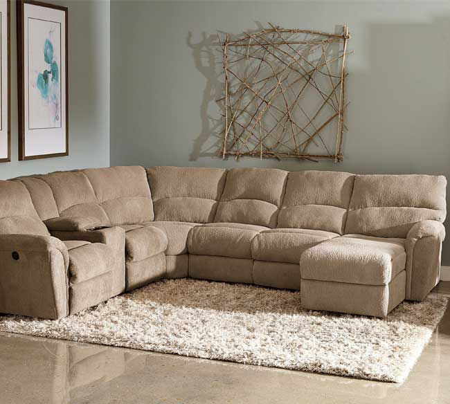 Warm reclining sectional idea with microfiber as the material white shaggy area rug artistic and cool & Microfiber Reclining Sectional Create So Much Coziness | HomesFeed islam-shia.org