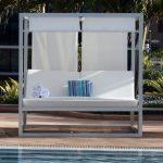 White And Blue Pool Cabana