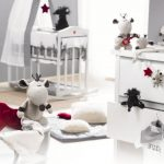 White And Grey Color For Baby Room Theme Decor