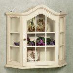 White And Pretty Wooden Curio Cabinet