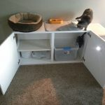 White Cat Litter Box With 4 Sections Part