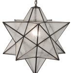 White Color Of Moravian Star Ceiling Light