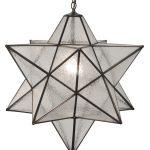 White Color Of Moravian Star Ceiling Light