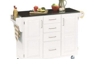 White Kitchen Island Portable White Wooden