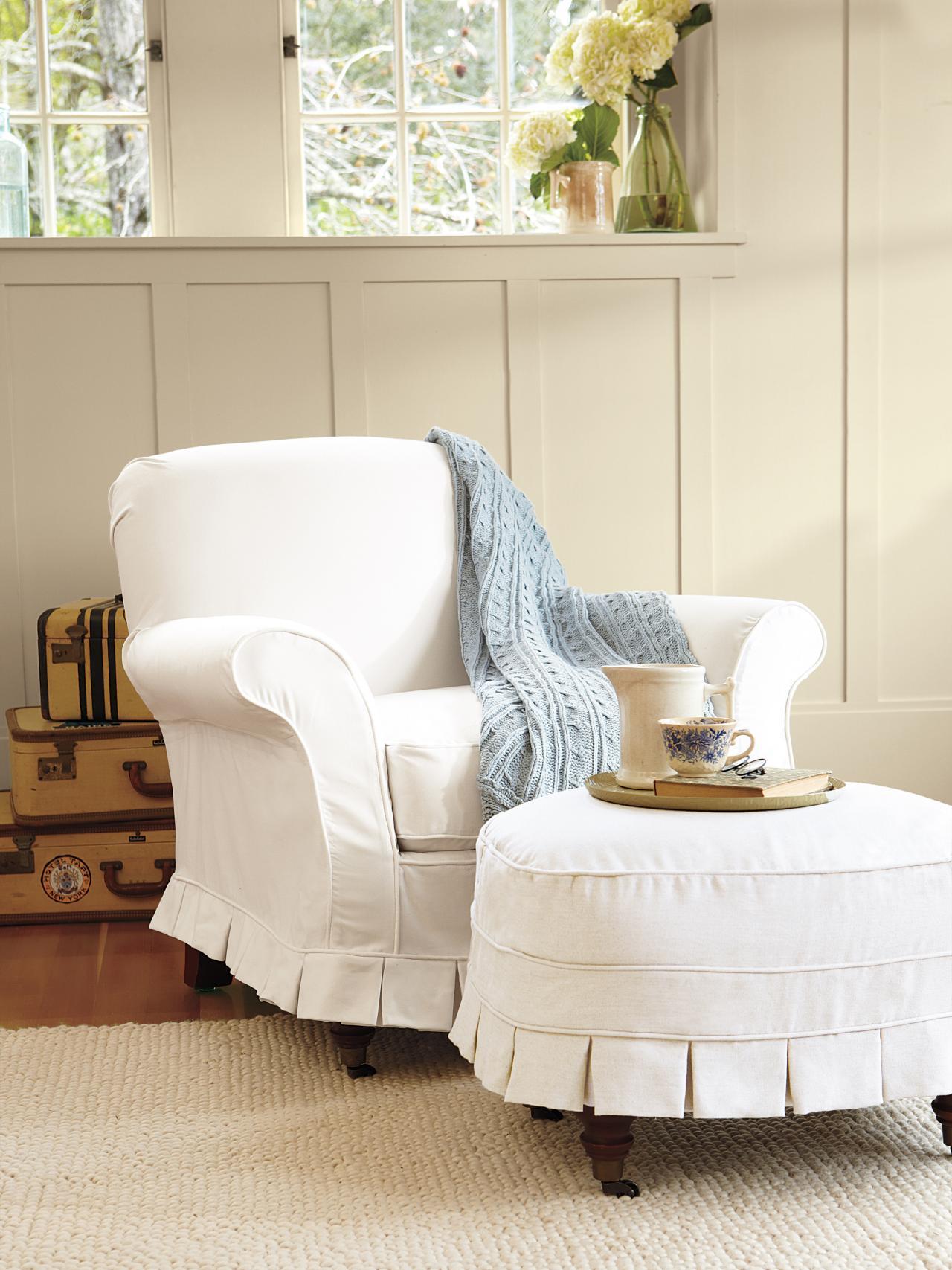 White Slipcovered Chair Ideas Homesfeed