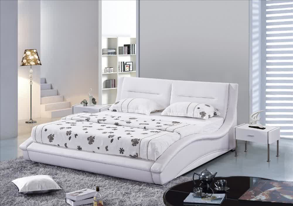 Matrimonio Bed Queen : White leather headboard queen homesfeed