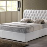 White leather headboard for queen bed furniture