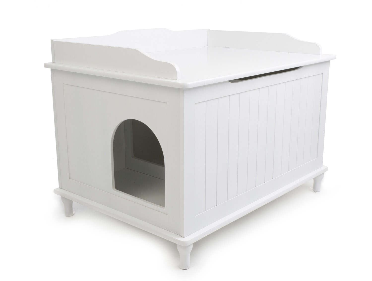 Litter box enclosures for cats homesfeed - Modern kitty litter box ...