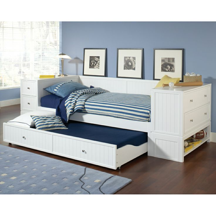 Trundle beds with storage designs homesfeed Daybeds with storage