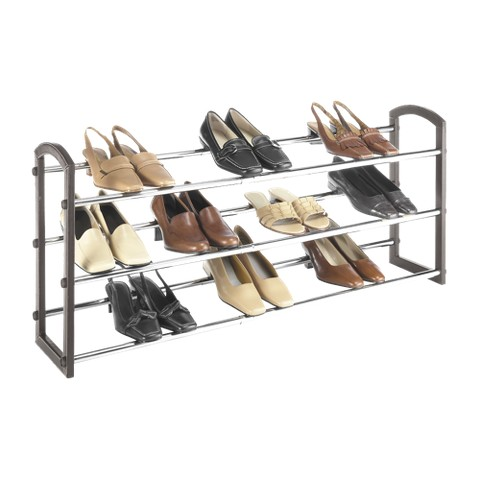 Whitmor Faux Leather Shoe Rack