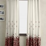 Window Curtain With Flower Pattern Design