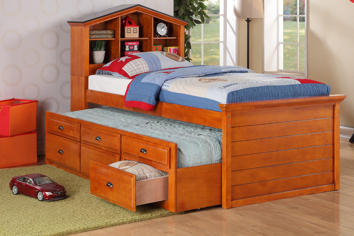 Toddler twin beds for kids room homesfeed - Twin bed for small space property ...
